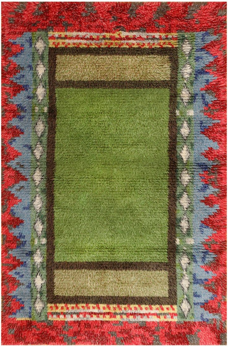 Vintage Swedish Rya Rug #48011 Main Image - By Nazmiyal