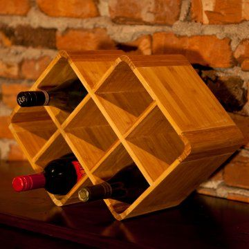 Bamboo 8-Bottle Stackable Wine Rack - Wine Accessories at Hayneedle