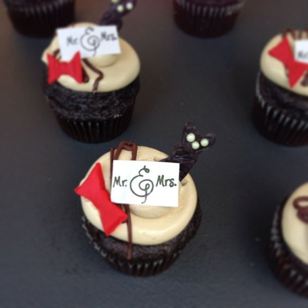 His and Hers Tuxedo Cupcake
