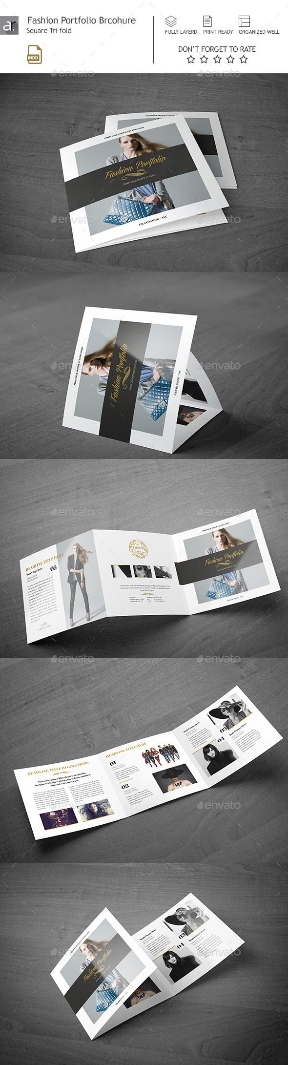 Fashion Portfolio Square Brochure Template PSD #design Download: http://graphicriver.net/item/fashion-portfolio-square-brochure/13684087?ref=ksioks