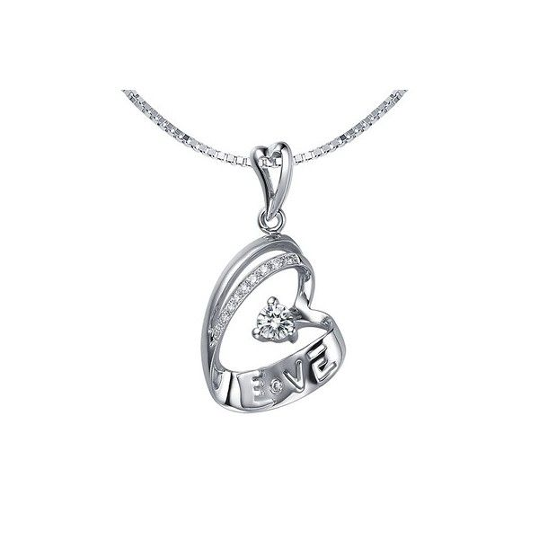 Heart Shape Diamond Love Pendant