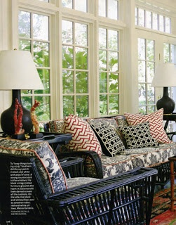 Victoria Dreste Designs Black And White Sunroom