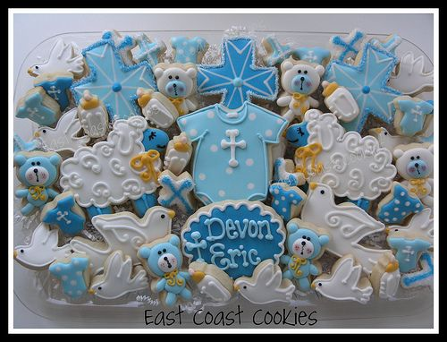 Baby Boy Christening cookies