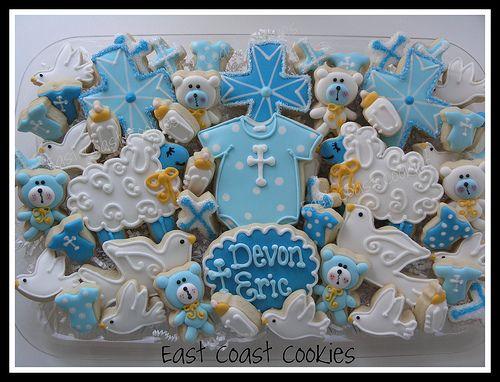Baby Boy Christening cookies