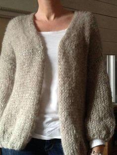 Bernadette vest van drops brushed alpaca silk plus glitterdraadje.