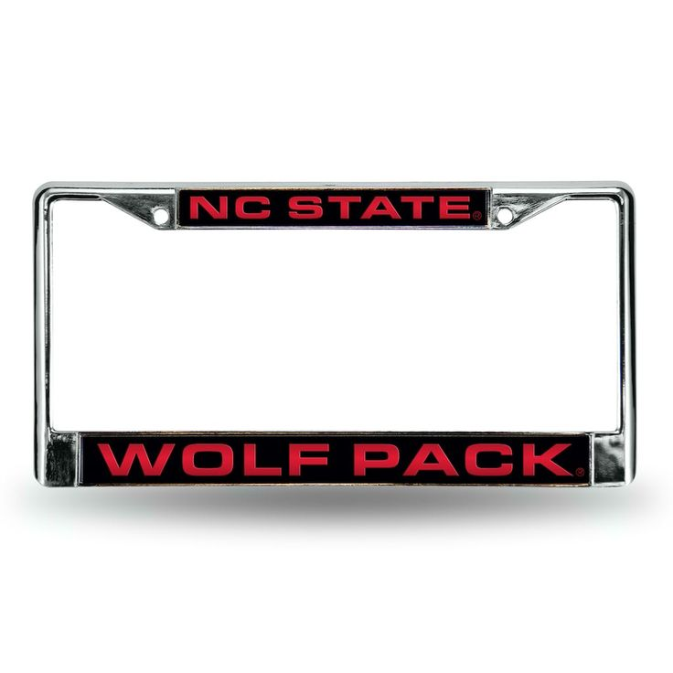 North Carolina State Wolfpack License Plate Frame, Red