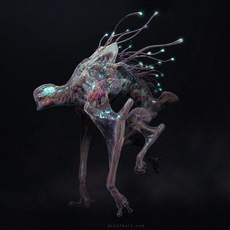 10 Cloverfield Lane creature concept, exploring highly transparent ideas. #10cloverfieldlane #concepts #creature #zbrush #monsters