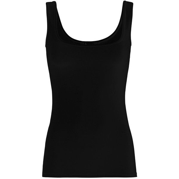 Twenty Tank Base Layer: Black ($88) ❤ liked on Polyvore featuring tops, black, base layer top, layered tops, nylon tank top, layering tanks and stretch tank top