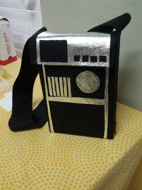 Star Trek Tricorder purse from a box and felt. Awesome costume accessory