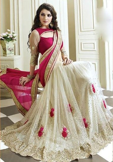Radhika Fibers New Designer Fabric:  Net and Satin ,Color:  pink ,Blouse Color As Per Saree & Encluding Multi Color Sarees - Radhika Fibers Sarees for indian woman