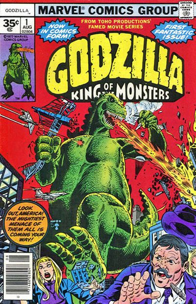 Cover for Godzilla (Marvel, 1977 series) #1 [35 cent cover price variant]