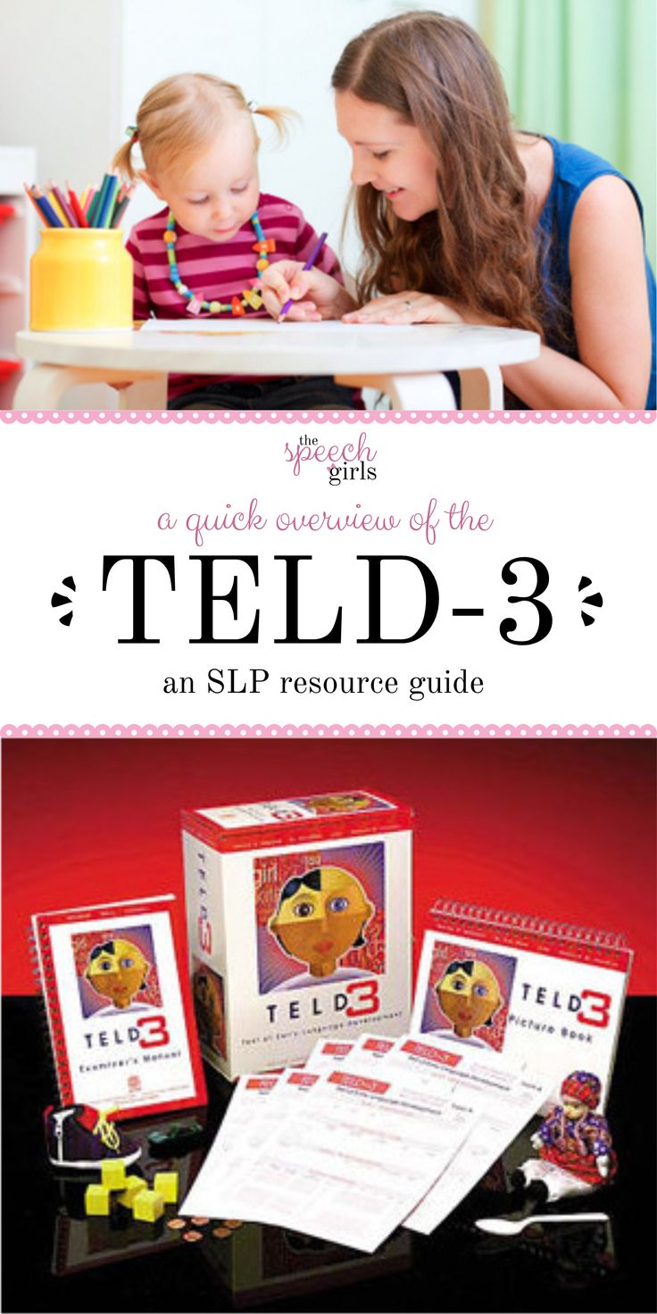 A quick guide to the TELD | An SLP resource to formal assessments - Administering the TELD