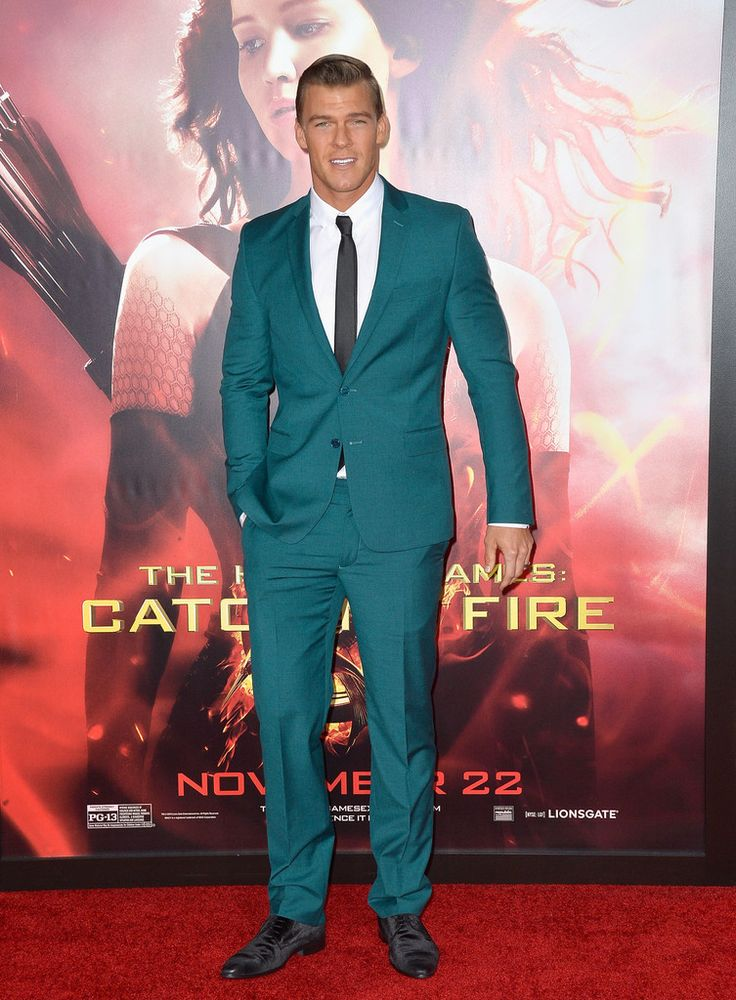 Fabulously Spotted: Alan Ritchson Wearing Versace - 'The Hunger Games: Cathching Fire' LA Premiere  - http://www.becauseiamfabulous.com/2013/11/fabulously-spotted-alan-ritchson-wearing-versace-hunger-games-cathching-fire-la-premiere/