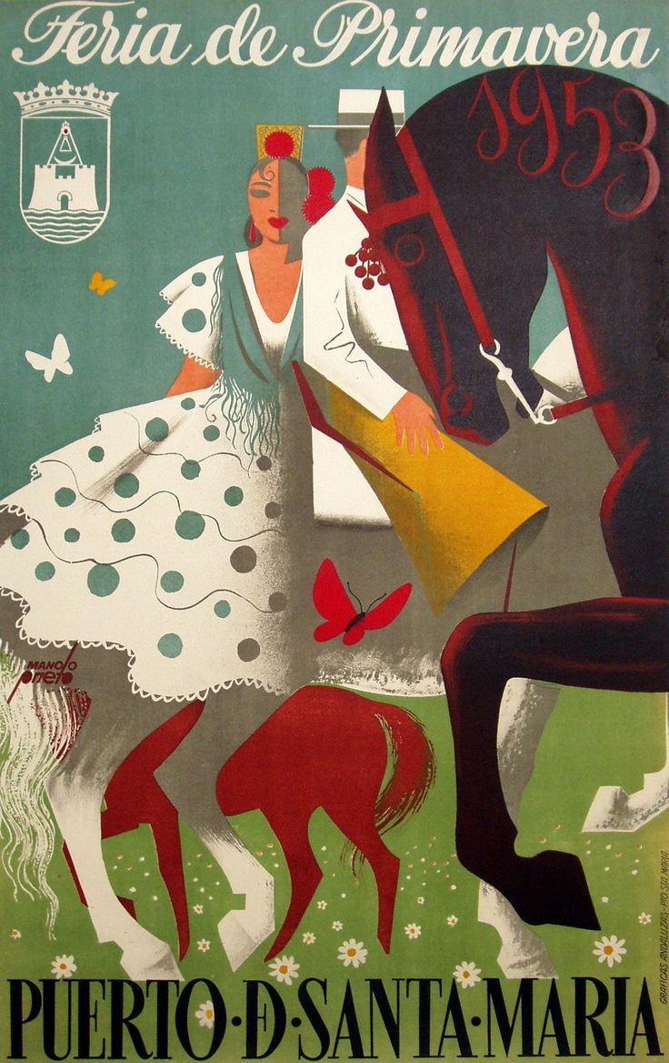 Vintage poster for La Feria de Sevilla, via magpieprototype.com