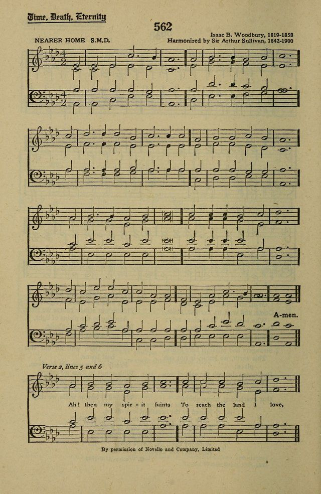 Harmonised version.  Methodist Hymn and Tune Book: official hymn book of the Methodist Church page 612. Tune I'm familiar with from my Dad singing this old hymn.