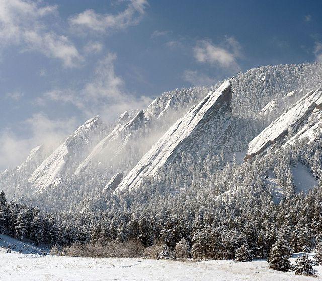 Flatirons in Boulder Colorado. Wow.