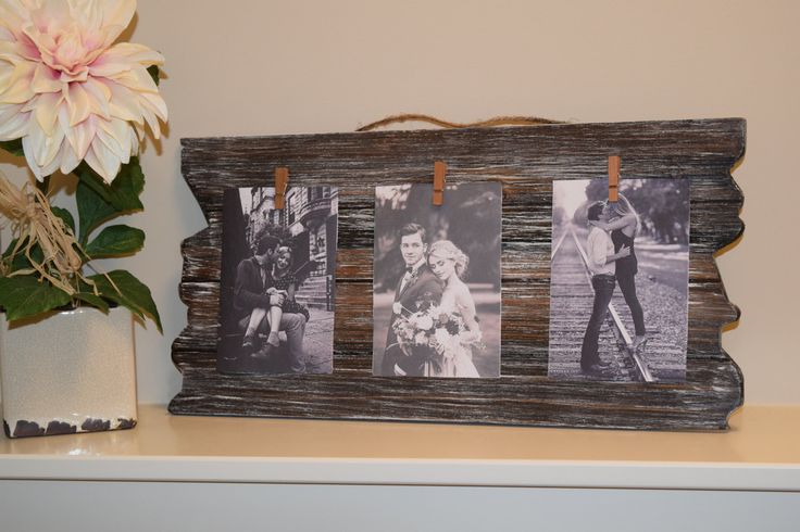 Rustic picture frame, clothespin picture frame, rustic frame, photo board, distressed picture frame, home & living, rustic decor by LittleBarnWorld on Etsy