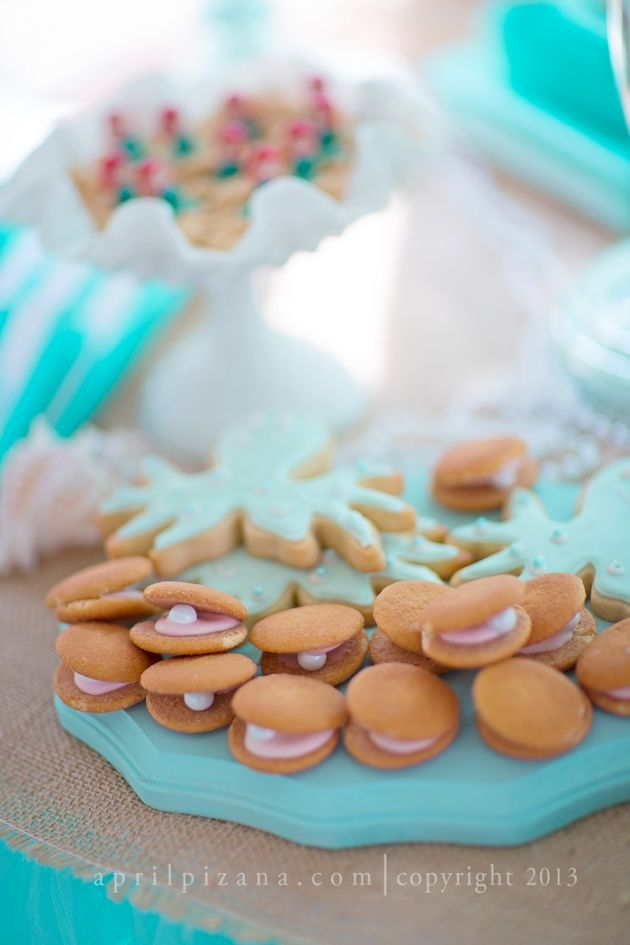 Beyond the Sea Theme - Clam Shell Cookies