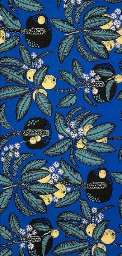 Notturno linen textile design by Josef Frank, 1943-45 This is dramatic - love it!  We love to protect musical instruments with our funky cases. www.beaumontmusic.co.uk