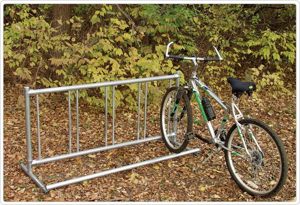 5 Bike Single Entry Freestanding Bike Rack