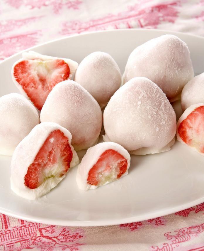 Yoghurt-aardbeien