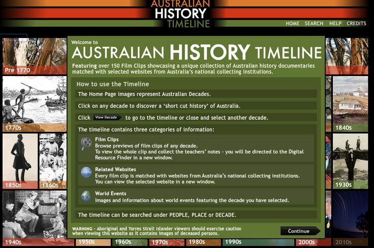 Featuring a unique collection of documentary video, selected websites and information about Australia's people, places and events over the decades.