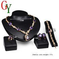 Perlas africanas de la joyería de Europa y América moda de alto grado de joyería de la novia de la joyería punky del estilo Africano familia de cuatro