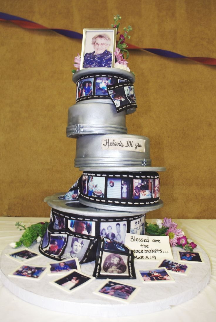 100th Birthday Film Reel Cake We Made This Cake For My