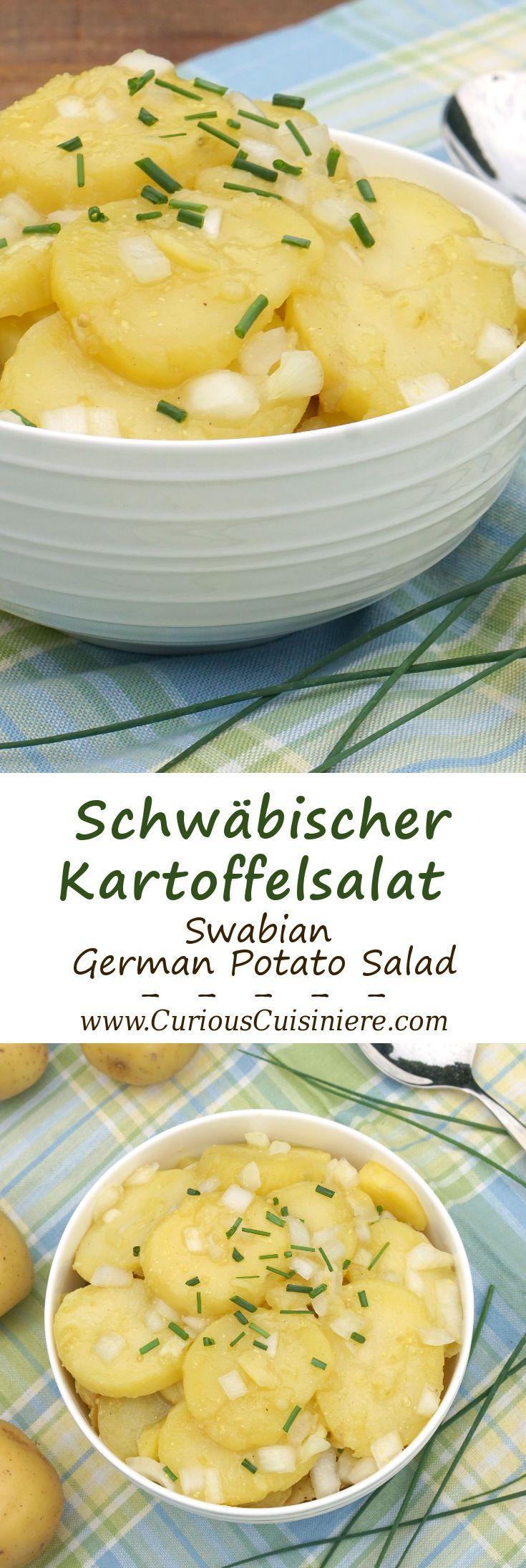 Tangy and sweet Schwabischer Kartoffelsalat, is flavorful German Potato Salad…