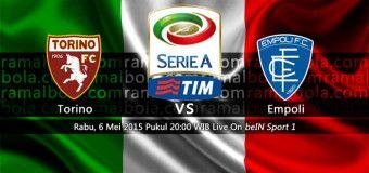 Agent Resmi Taruhan Judi Online Sbobet & Casino Aman Dan Terpercaya: Prediksi Score Torino Vs Empoli 6 Mei 2015
