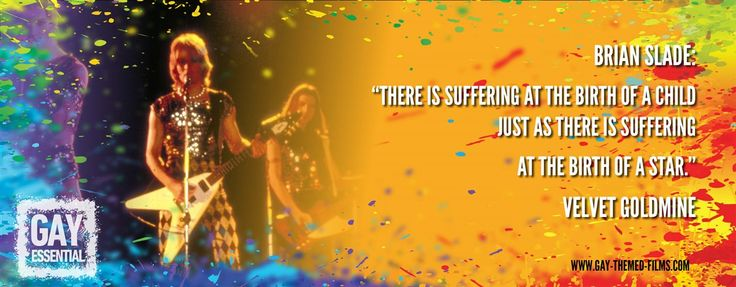 """There is suffering at the birth of a star.""  http://gay-themed-films.com/film-quotes/ #MovieQuotes #VelvetGoldmine"