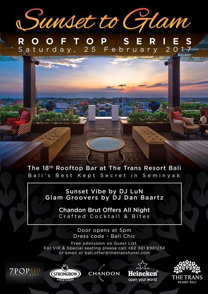 Sunset To Glam at The 18th Rooftop Bar at Trans Resort Bali