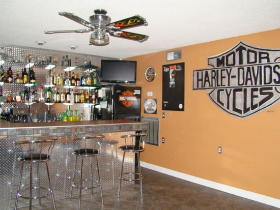 Man Cave Urban Areas : Best images about decorating harley style on pinterest