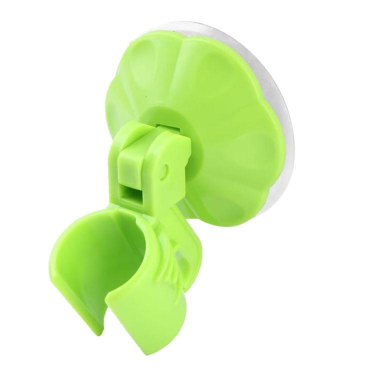 Household Bathroom Plastic Suction Cup Adjustable Shower Head Holder Green