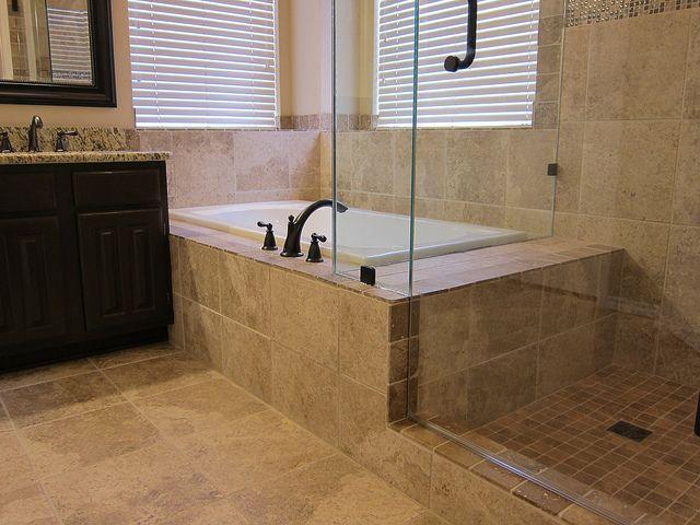 drop in bathtubs | Bathroom remodel with drop-in bathtub tiled | Flickr - Photo Sharing!
