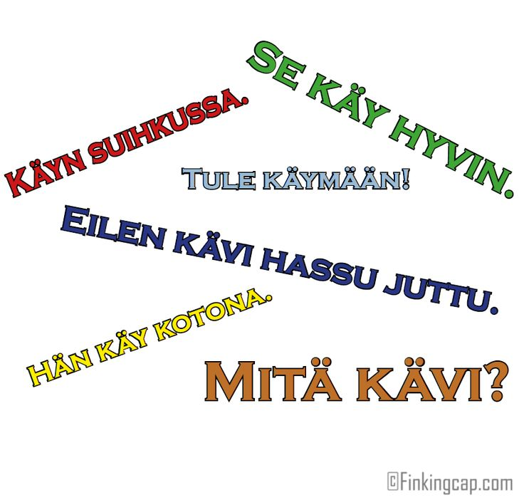 The Finnish verb KÄYDÄ (verb type 2) and a few common ways to use it. The verb käydä is a really common verb in Finnish. There are both concrete and abstract meanings for it. It's hard to give an exhaustive definition for käydä but this short story I wrote will help you learn a few different ways to use it.