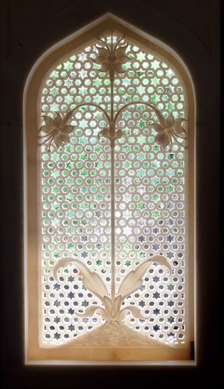 Carved Wooden Bathroom Mirror