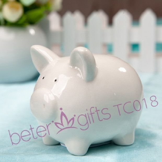 Free Shipping Ceramic Mini Piggy Money Bank TC018 Perfect Baby Birthday Party Favours  http://m.aliexpress.com/item/725522860.html