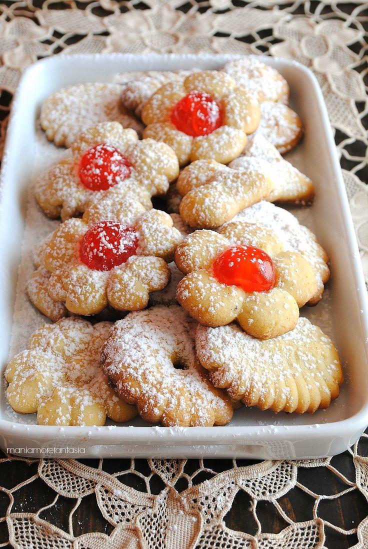 biscotti con pasta frolla per sparabiscotti con videoricetta