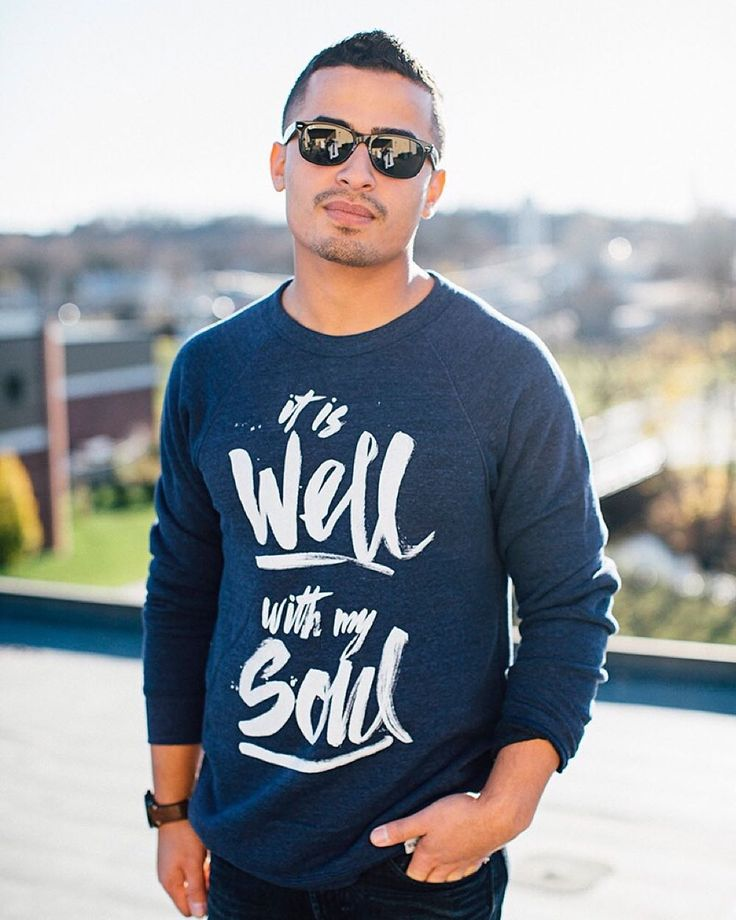 It's baaaaack!  Navy Crewneck 'It Is Well' Sweatshirt! Save 15% with the code ITISWELL at checkout! #walkinlove #iwearwalkinlove