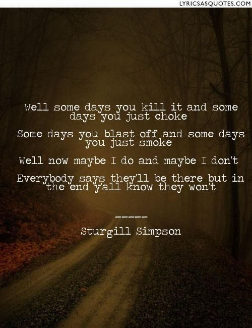 Sturgill Simpson- Some Days
