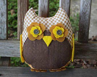 Cute Stuffed Owl  —  Home Decor