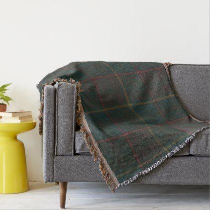 Province of Ontario Original Tartan Throw Blanket - traditional gift idea diy unique