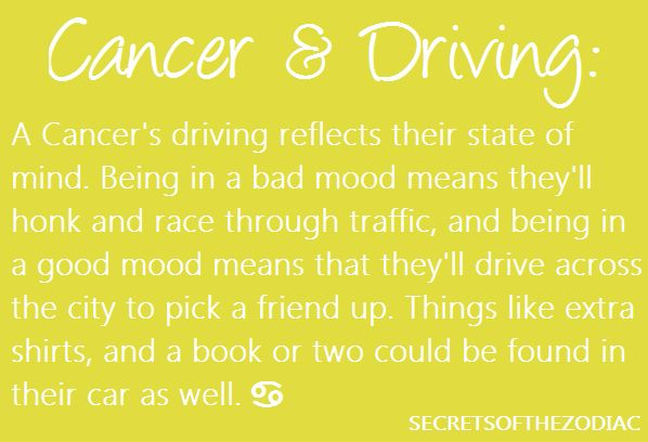 Driving Style in a Bad Mood & Good Mood~Cancer Zodiac Sign ♋