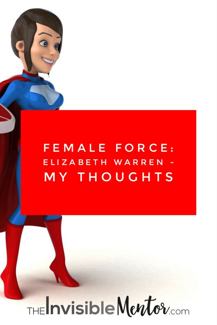 Female Force Elizabeth Warren is a short bio of the politician. Female Force is a comic books series that profile notable women. Read my article where I share my thoughts on the comic book on Elizabeth Warren.