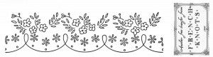Flower border embroidery pattern