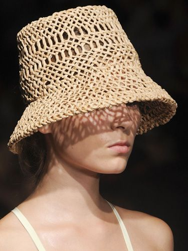 A Lola hat for Rachel Comey's Spring '12 collection.