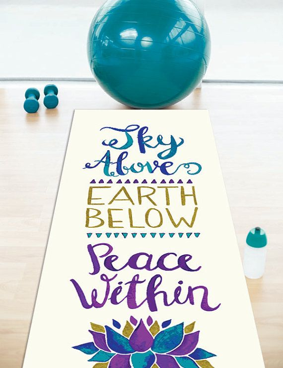 Sky Above Earth Below Yoga Mat by Pom Graphic Design