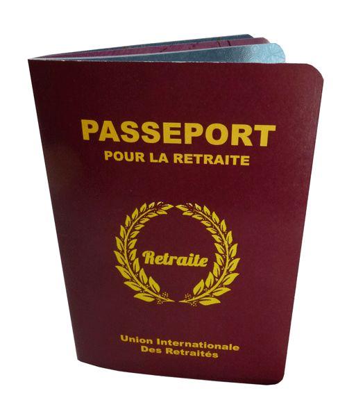 Le passeport pour la retraite : une carte à signer originale pour un pot de départ en retraite