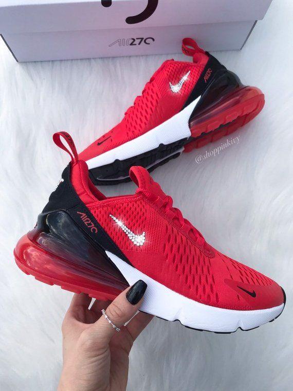 Swarovski Nike Aufgemotzt Frauen Nike Air Max 270 Lauft Training Schuhe Aussere Nike Swoosh Ist Mit Fabelhafte Swarovski Nike Nike Air Shoes Bling Nike Shoes